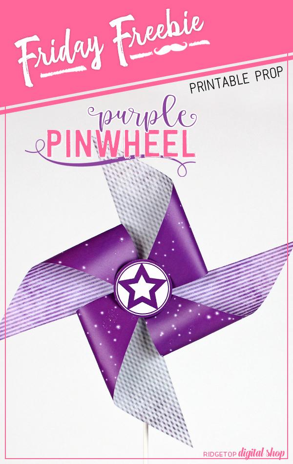 Ridgetop Digital Shop | Purple Pinwheel Printable | Free Wedding Printable | Purple Party Theme | Bachelorette Party