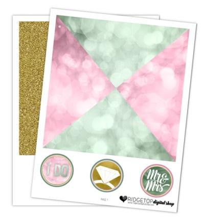 Ridgetop Digital Shop | Dusty Pink Sage Wedding Pinwheel | Free Wedding Printable | Dusty Rose Wedding