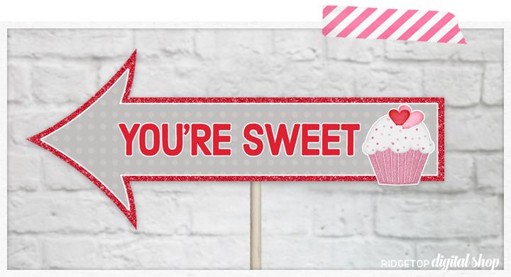 Ridgetop Digital Shop   Valentine's Day Party   Photo Props   Printables   School Party