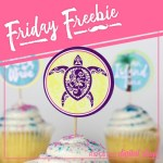 Friday Freebie: Tropical Cupcake Toppers