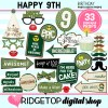 Ridgetop Digital Shop | 9th birthday party printable camo photo booth props