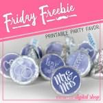Friday Freebie: Victorian Lilac Wedding Candy Stickers