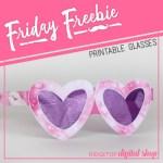 Girl's Night Glasses Printable
