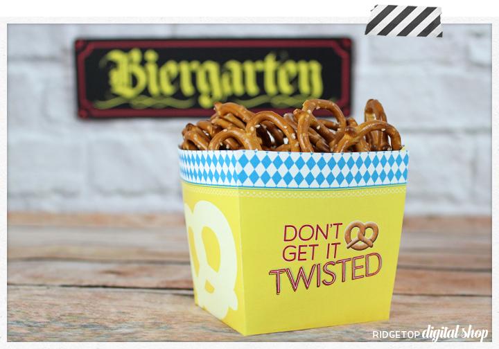 Oktoberfest Pretzel Box Printable | Ridgetop Digital Shop | Oktoberfest Free Printable | Snapshot Newsletter