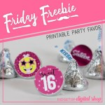 Pink Sweet 16 Candy Stickers free printable