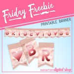 Bride to Be Free Printable Banner
