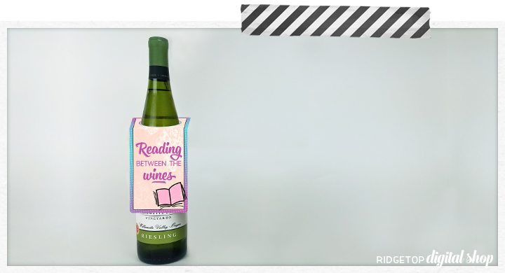 Book Club Printable | Wine Tag Printable | Snapshot | Ridgetop Digital Shop