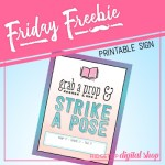Friday Freebie: Book Club Photo Booth Sign