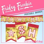 Friday Freebie: Movie Night Printable Banner
