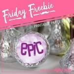 Friday Freebie: Purple Birthday Candy Stickers