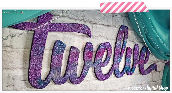 Birthday Foam Wall Decor How To   12th Birthday Party Planning   Glitter Photo Backdrop   Ridgetop Digital Shop
