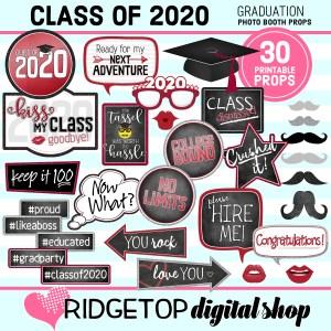 Class of 2020 Graduation Photo Booth Props | Ridgetop Digital Shop