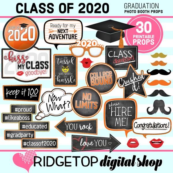 Class of 2020 Photo Props   Graduation Printable   Ridgetop Digital Shop