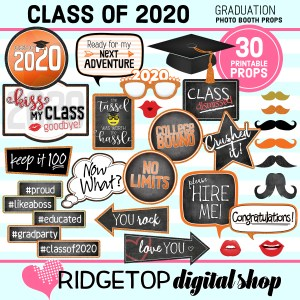 Class of 2020 Photo Props | Graduation Printable | Ridgetop Digital Shop