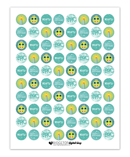 Candy Stickers Free Printable | Ridgetop Digital Shop