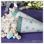 Ice Cream Cone Wrapper Free Printable – Turquoise