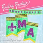 Mardi Gras Free Printable Banner