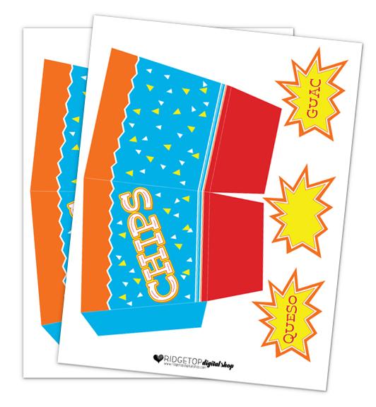Chips Snack Box Free Printable   Ridgetop Digital Shop