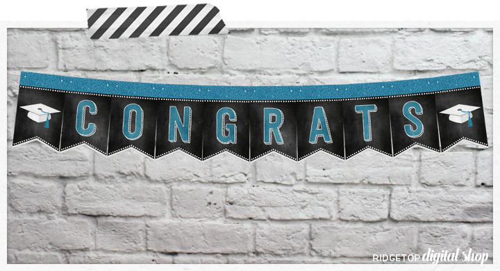 Graduation Free Printable Banner | Graduation Party Idea | Graduation Printable | Ridgetop Digital Shop