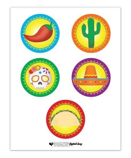 Taco Tuesday Garland and Cupcake Circles Free Printable | Ridgetop Digital Shop