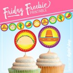 Taco Tuesday Garland and Cupcake Toppers Free Printable