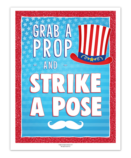 4th of July Photo Booth Sign Free Printable | Ridgetop Digital Shop