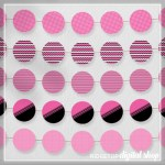 Pink Party Circles Free Printable