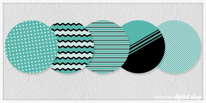 Turquoise Party Circles Free Printable | Ridgetop Digital Shop