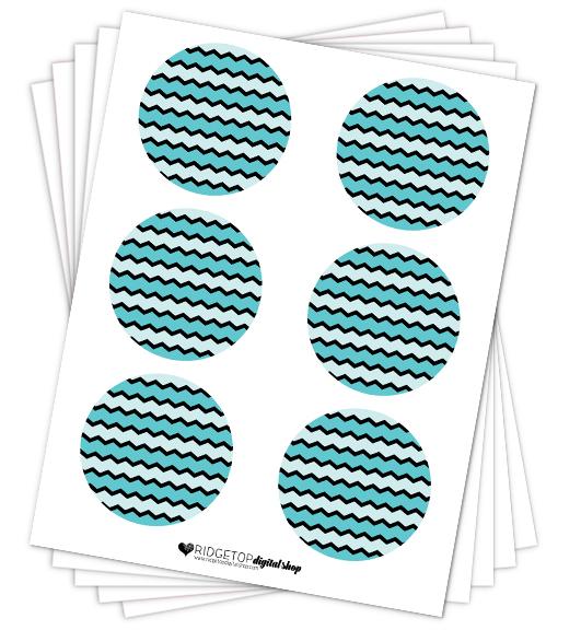 Aqua Party Circles Free Printable |  Ridgetop Digital Shop