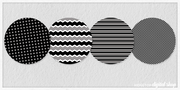 Black Party Circles Free Printable    Ridgetop Digital Shop
