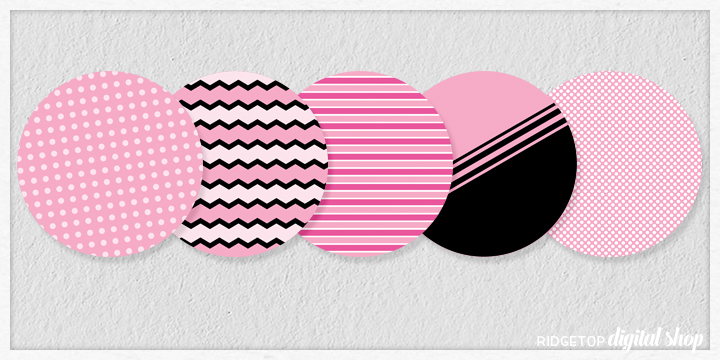 Soft Pink Party Circles Free Printable | Ridgetop Digital Shop