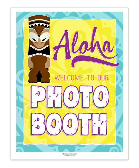 Luau Photo Booth Sign Free Printable | Ridgetop Digital Shop