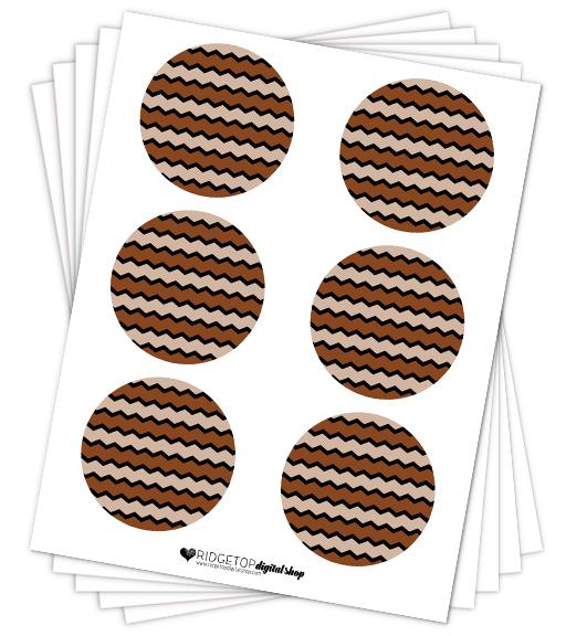 Brown Party Circles Free Printable   Ridgetop Digital Shop