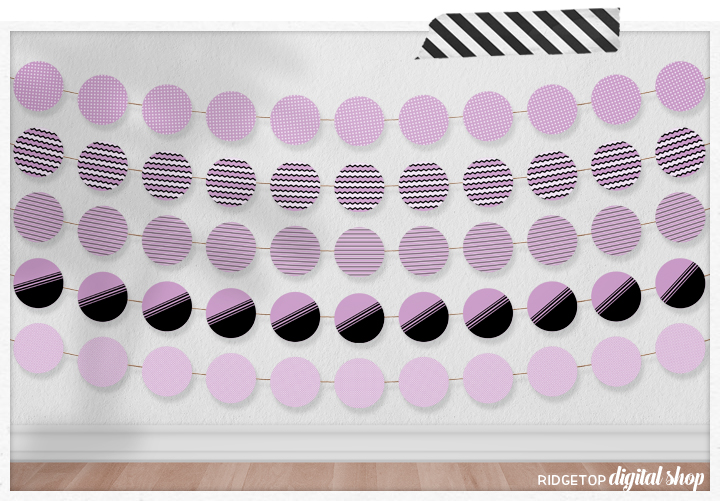 Lavender Party Circles Free Printable | Ridgetop Digital Shop