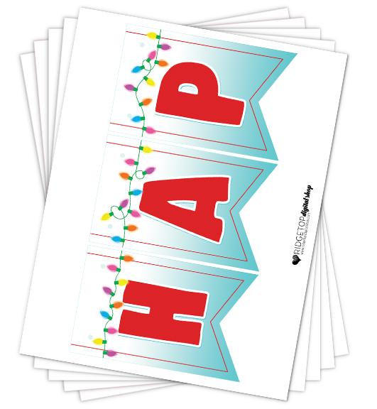Happiest Christmas Banner Free Printable | Ridgetop Digital Shop