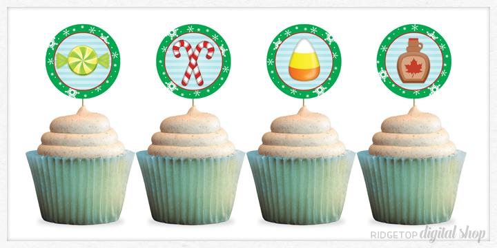 Elf Movie Food Groups Cupcake Topper Printable Free   Ridgetop Digital Shop