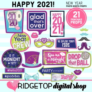 New Year's Eve 2021 Photo Props | Ridgetop Digital Shop