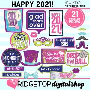 New Year's Eve 2021 Photo Props | Ridgetop Digital Shop