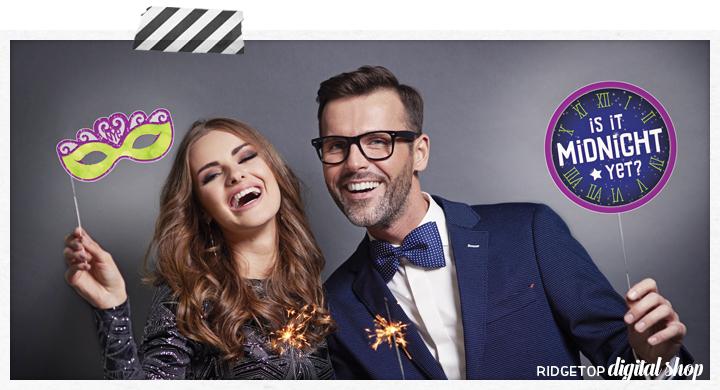 New Year's Eve Photo Props | RIdgetop Digital Shop