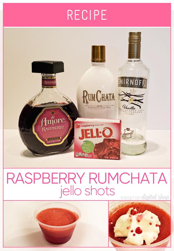 Raspberry RumChata Jello Shot Recipe | Valentine's Day Jello Shot | Galentines Day Jello Shot | Ridgetop Digital Shop