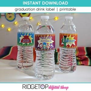 Taco Graduation Drink Bottle Label - printable