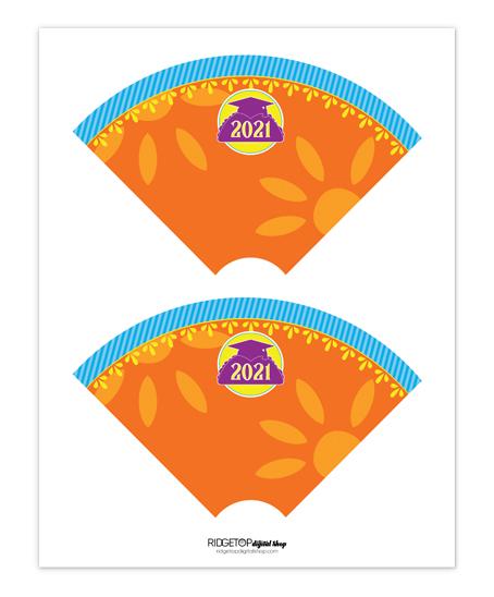 Nacho Average Grad Cone Wrapper Free Printable | Class of 2021 | Ridgetop Digital Shop