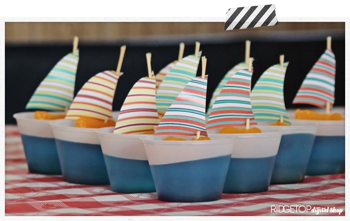 Nautical Jello Cup Recipe and Printable | Ridgetop Digital Shop
