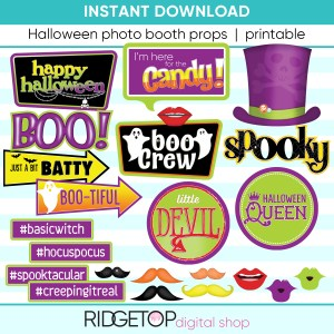 Halloween Photo booth props printables