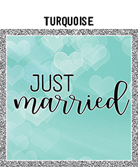 Ridgetop Digital Shop | Wedding Day Photo Booth Props | Turquoise