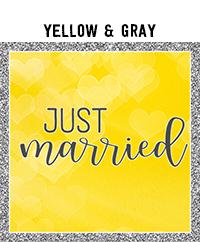 Ridgetop Digital Shop | Wedding Day Photo Booth Props | Yellow Gray