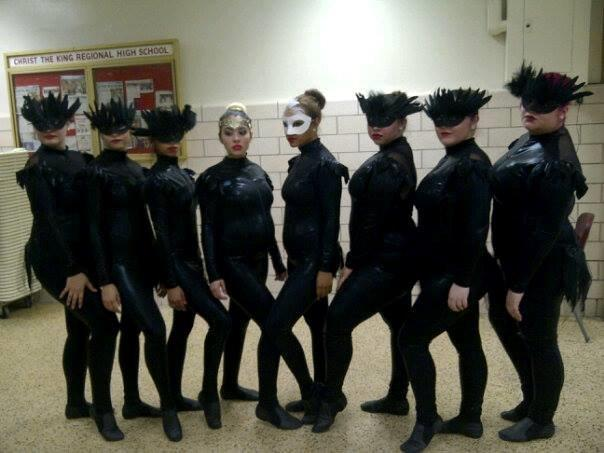 Backstage with the Dancers from Ridgewood Dance Studios, incl Shamika Martir
