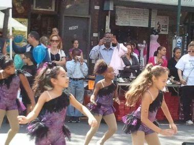 Performing with Ridgewood Dancers