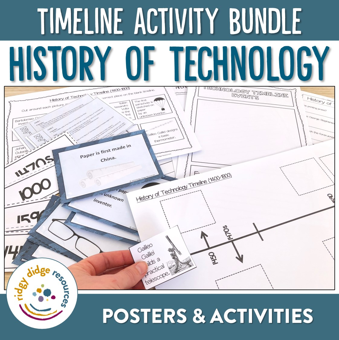 Technology And Inventions Timeline Posters Powerpoint