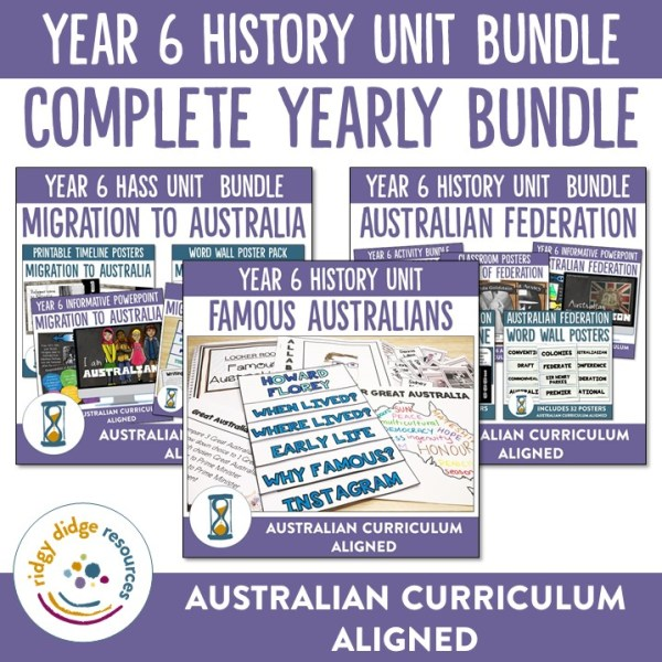 Year 6 history units | Ridgy Didge Resources | Australia